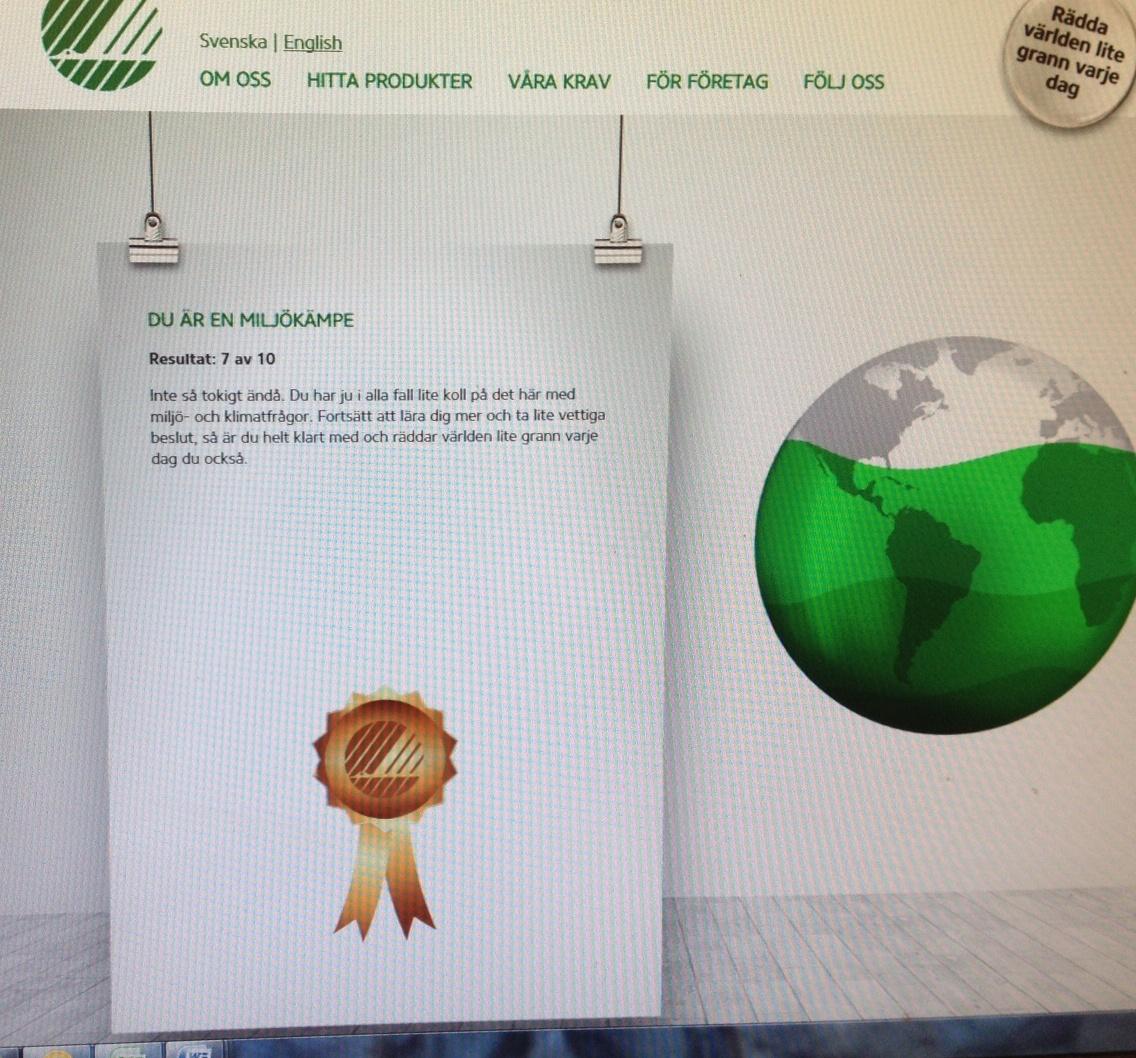 Svanen miljötest